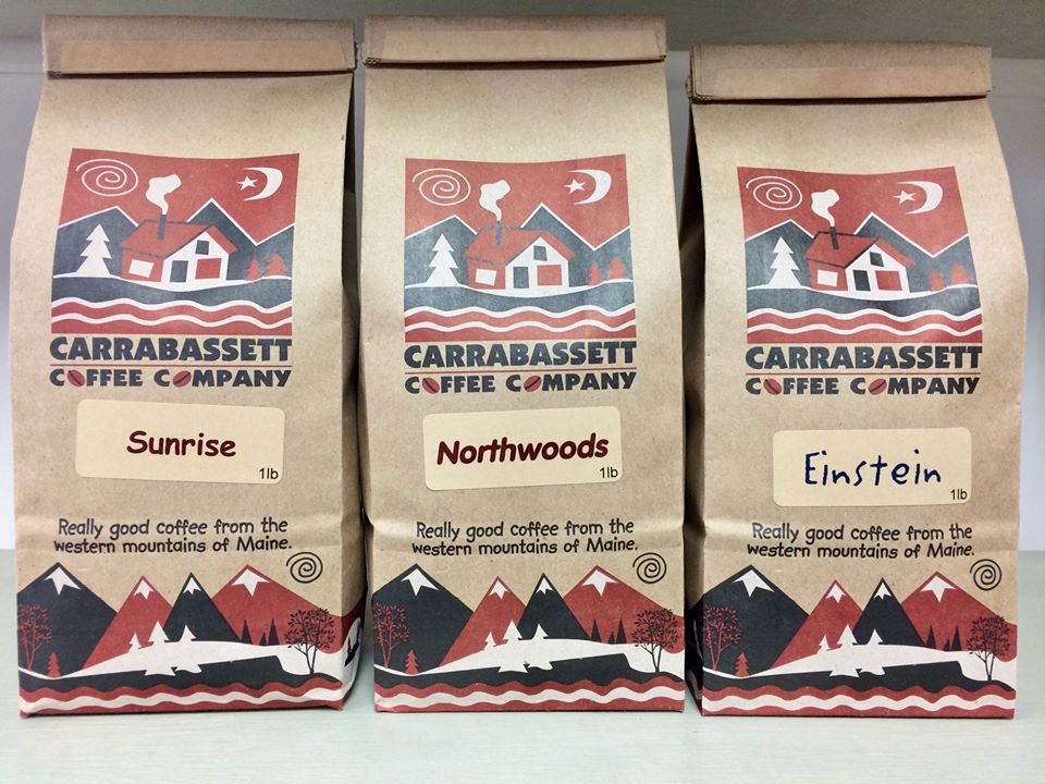 New craft bags of Carrabassett Coffee