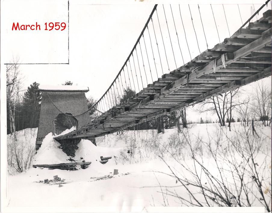 1959 Photo of Wire Bridge