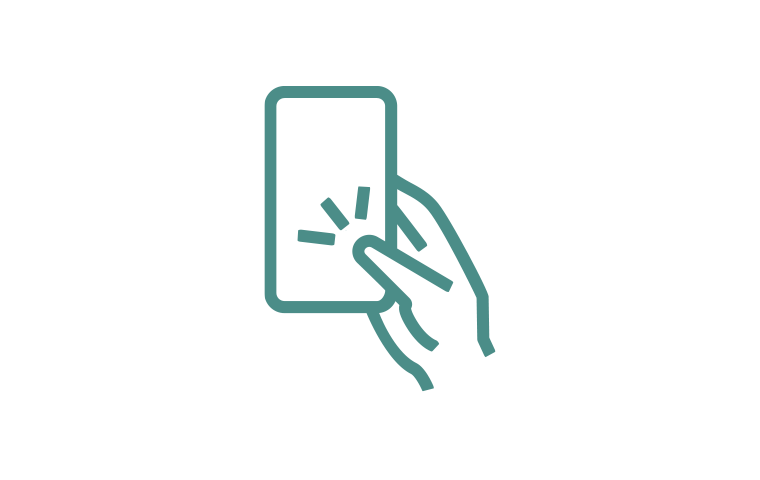 hand with phone icon
