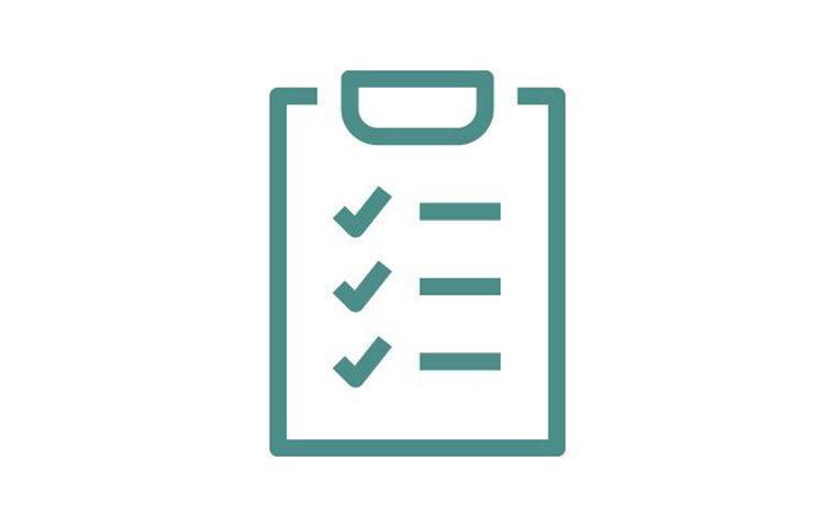clip board inspection icon