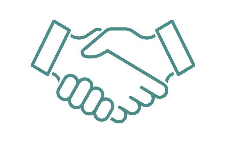 handshake follow up icon