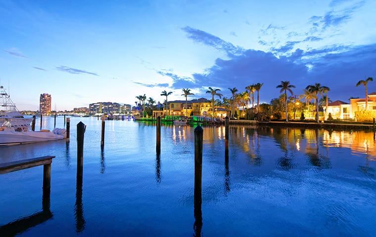 a waterfront view of homes in boca raton florida