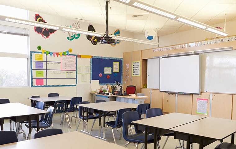 interior of a classroom in lake worth florida