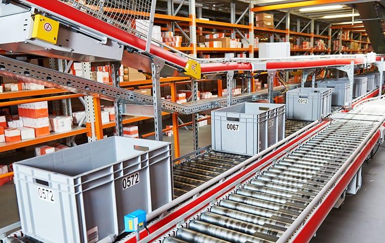 interior of a warehouse in boca raton florida