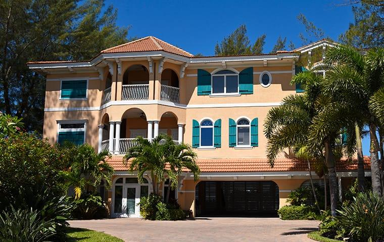 street view of a large home in boca raton florida