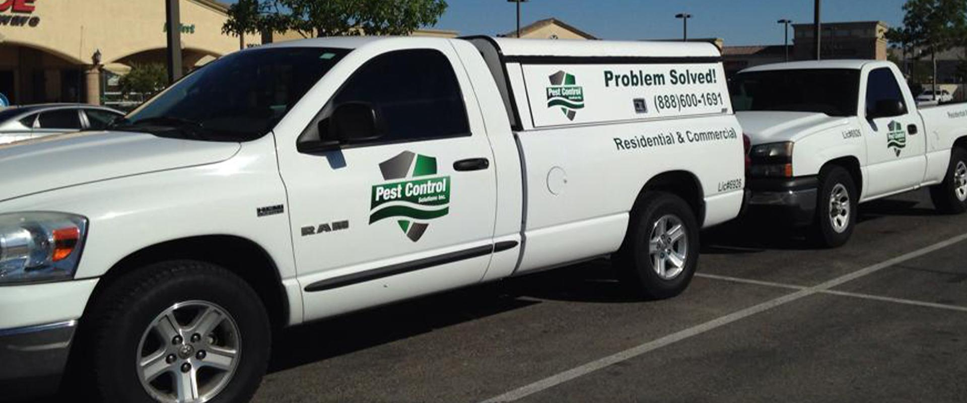 pest control solutions trucks