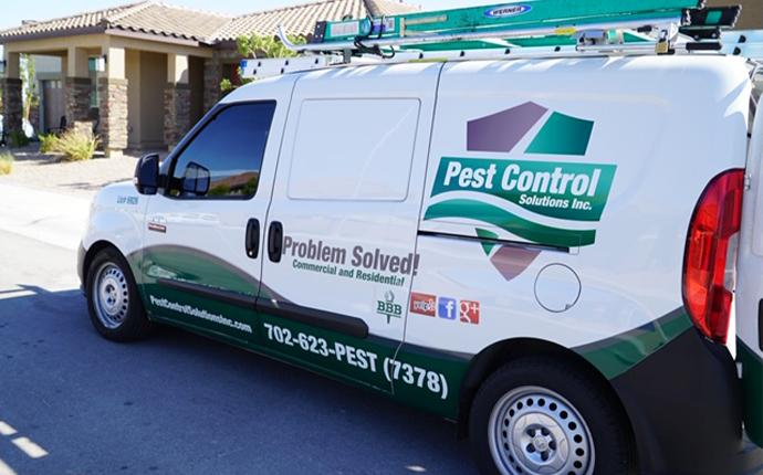 pest control van driving to home