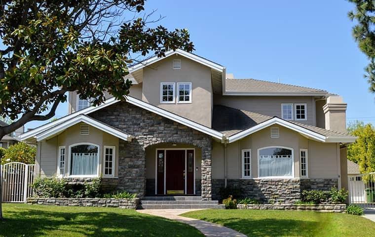 large tan residential home in roseville california