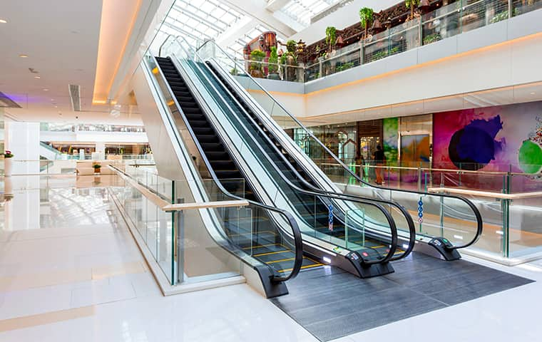 interior of a retail shopping center serviced by pro active pest control in northern california