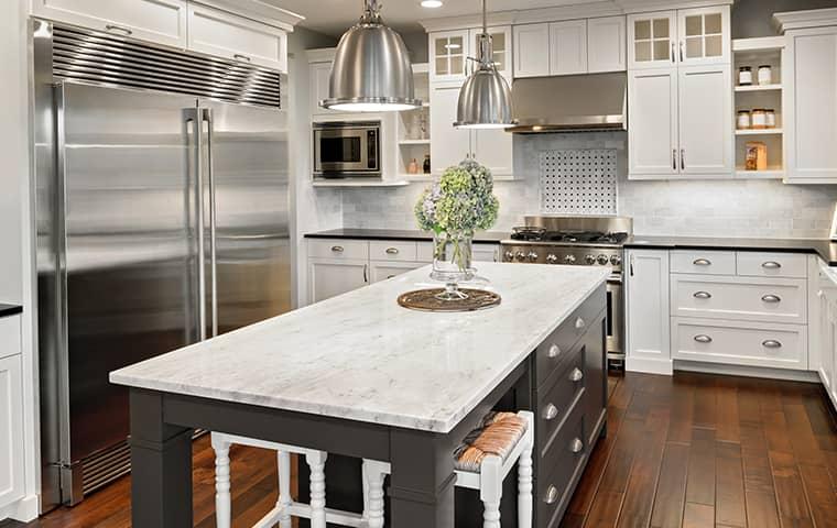 interior of a kitchen in a granite bay home