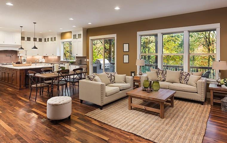 living room in orangevale home