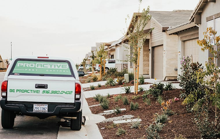 a company truck parked outside a home in loomis california