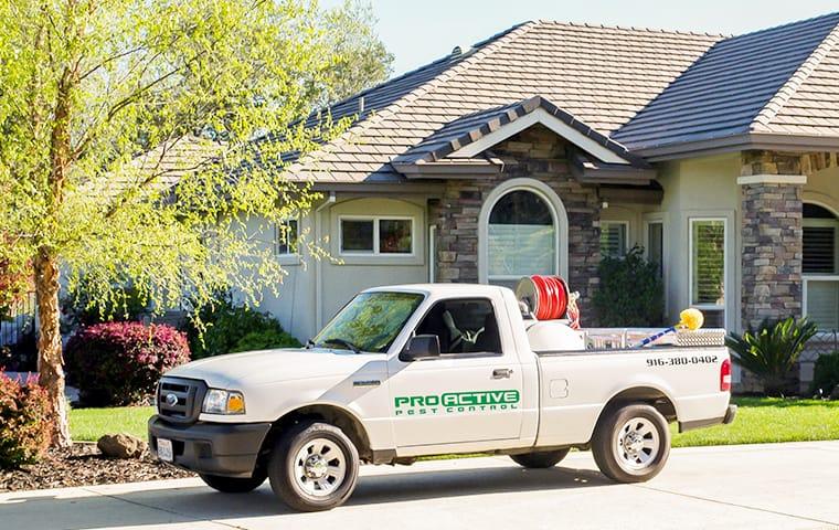 a service truck outside of a plumas lake california home