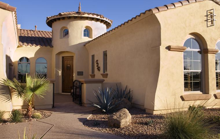 exterior view of a home in queen creek az