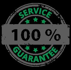 100% service guarantee