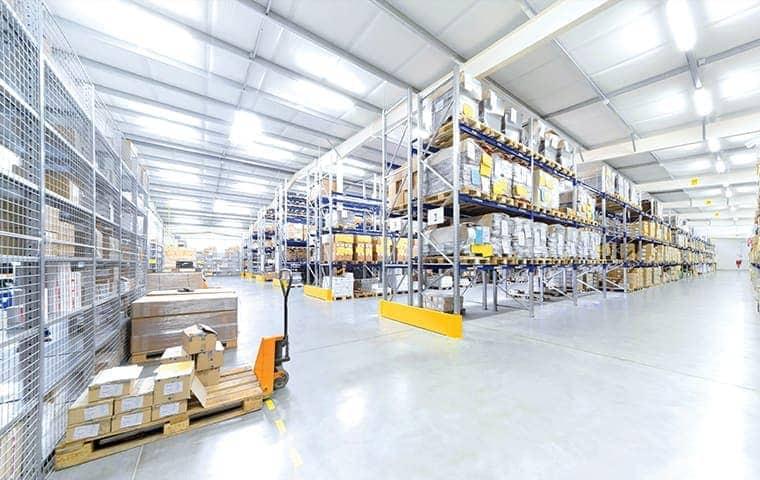a commercial warehouse serviced by pro active pest control in el dorado hills california