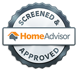 home advisor screen and approved service award icon
