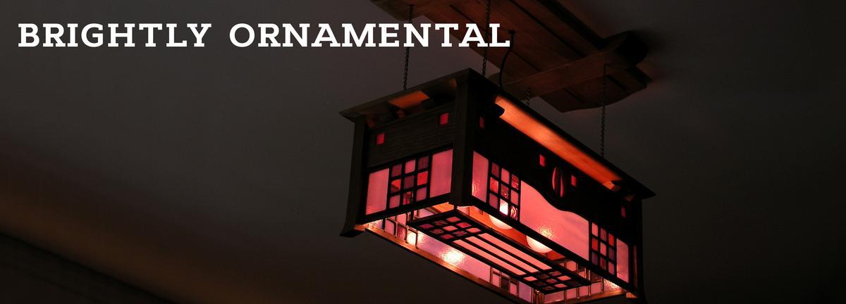 Mackintosh inspired ceiling lamp