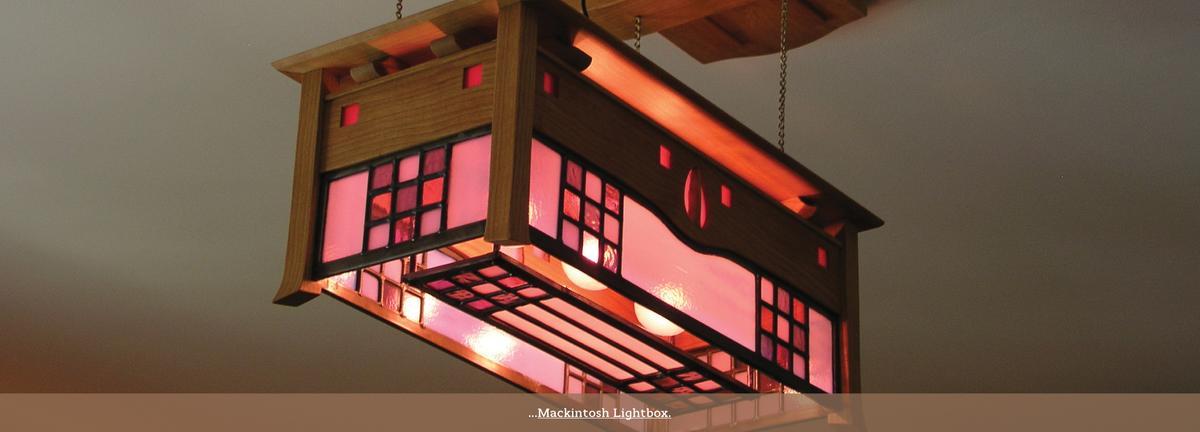 C.R.Mackintosh style ceiling light.