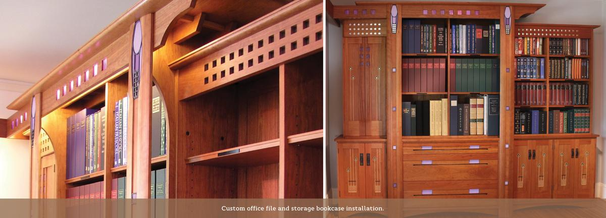 custom Mackintosh style office unit.