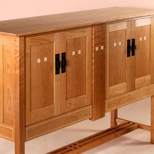 Arts & Crafts inspired cherry sideboard.
