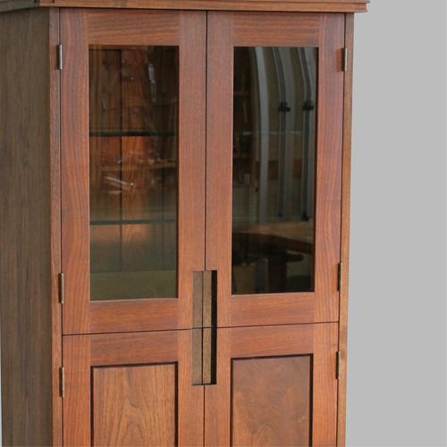 Mid-Century inspired tall cabinet.