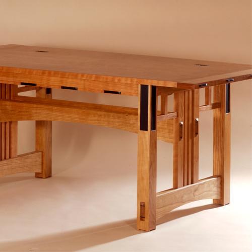 Trestle table style desk.