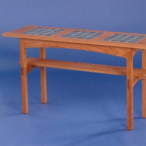 Tile Top Console Table