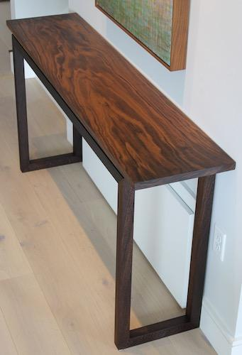 Walnut Top Console Table