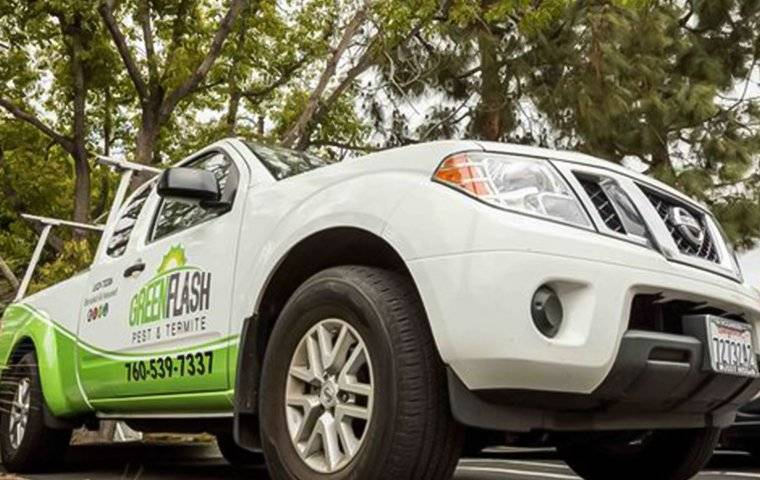 a green flash company truck