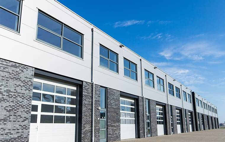 a industrial commercial building