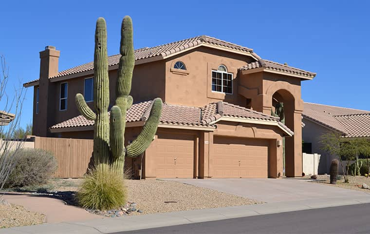 front of a house in arizona