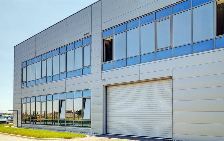 large industrial commercial building