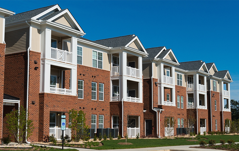 street view of an apartment building in delaware county pennsylvania