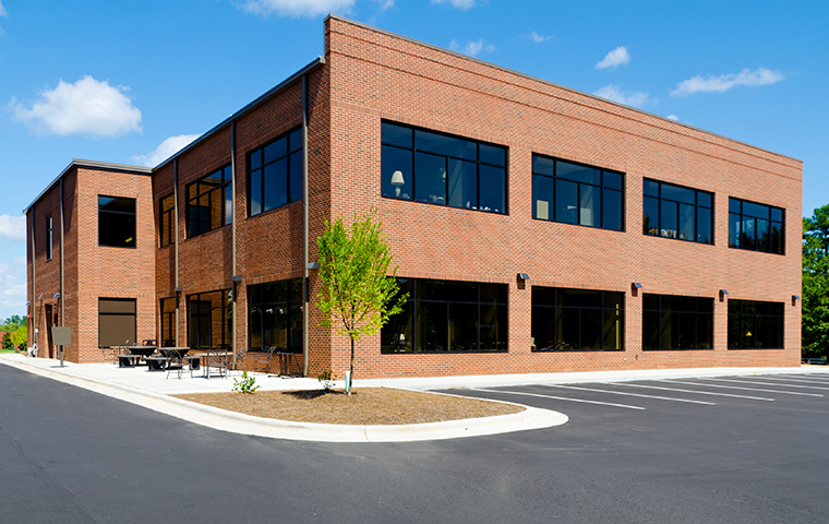 street view of a brick commercial building in berks