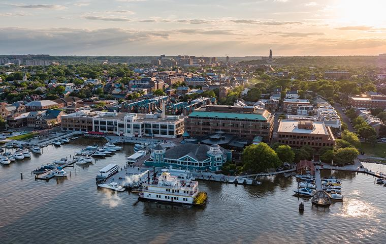 aerial view of alexandria virginia