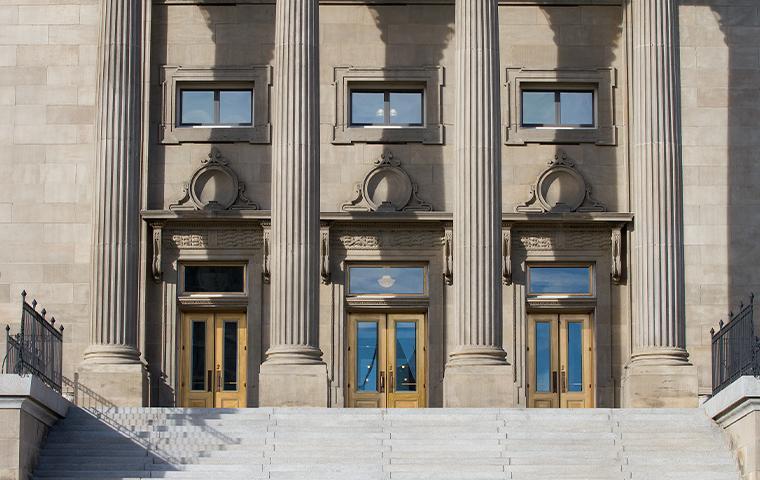 exterior of a government building