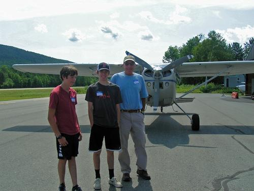 PILOT LLOYD CUTTLER AND 2 YOUNG EAGLES