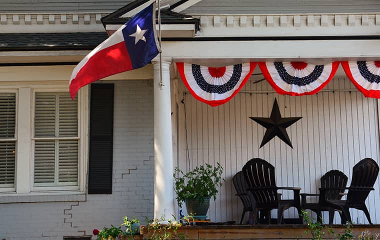 front porch of a home in bay city texas
