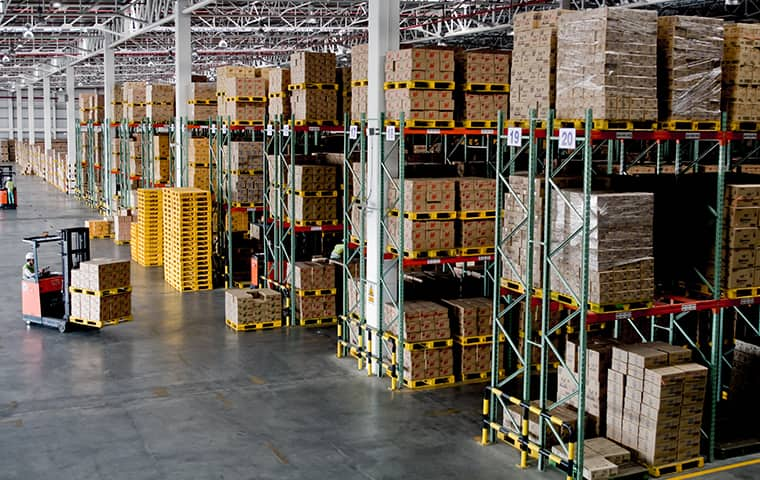 internal view of a warehouse in fort worth texas