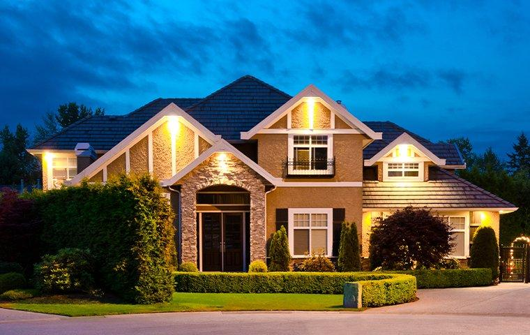 street view of a home at night in euless texas