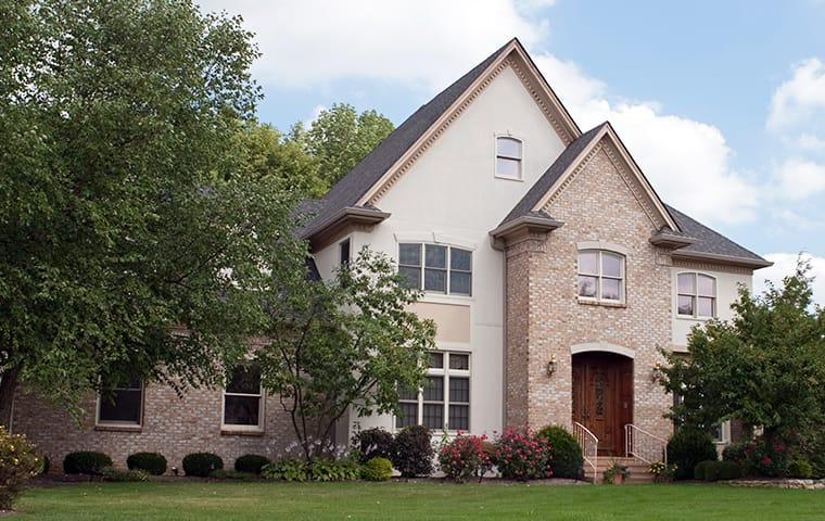exterior of a large home in houston texas