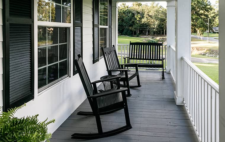 front porch of a home in magnolia texas