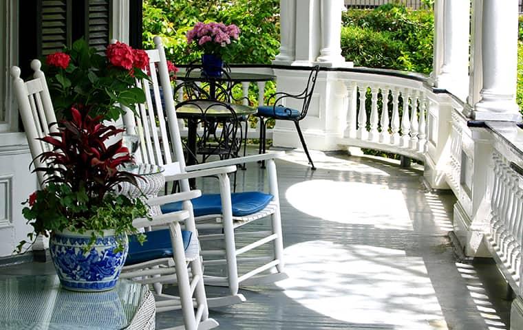 front porch of a home in matagorda texas