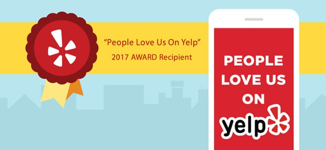 people love us on yelp 2017 award recipient badge graphic american pest
