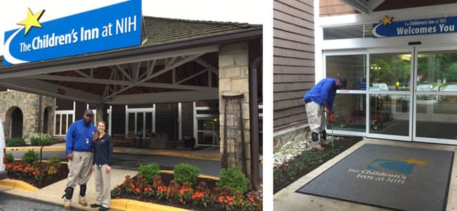 american pest installing sentricon stations to protect the childrens inn at nih