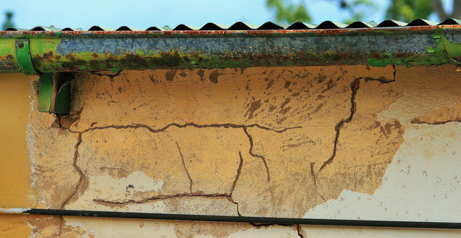 termites in house moisture and termite damage from clogged gutter