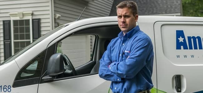 maryland home being protected by pest control technician