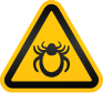 tick hazard sign