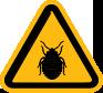 bed bug warning sign